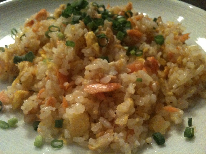 Salmon Fried Rice  May 2011