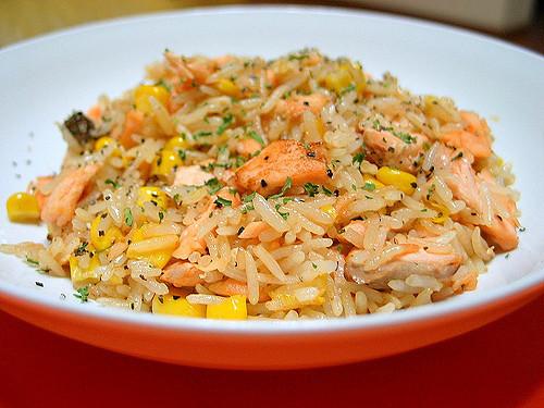 Salmon Fried Rice  Salmon Fried Rice