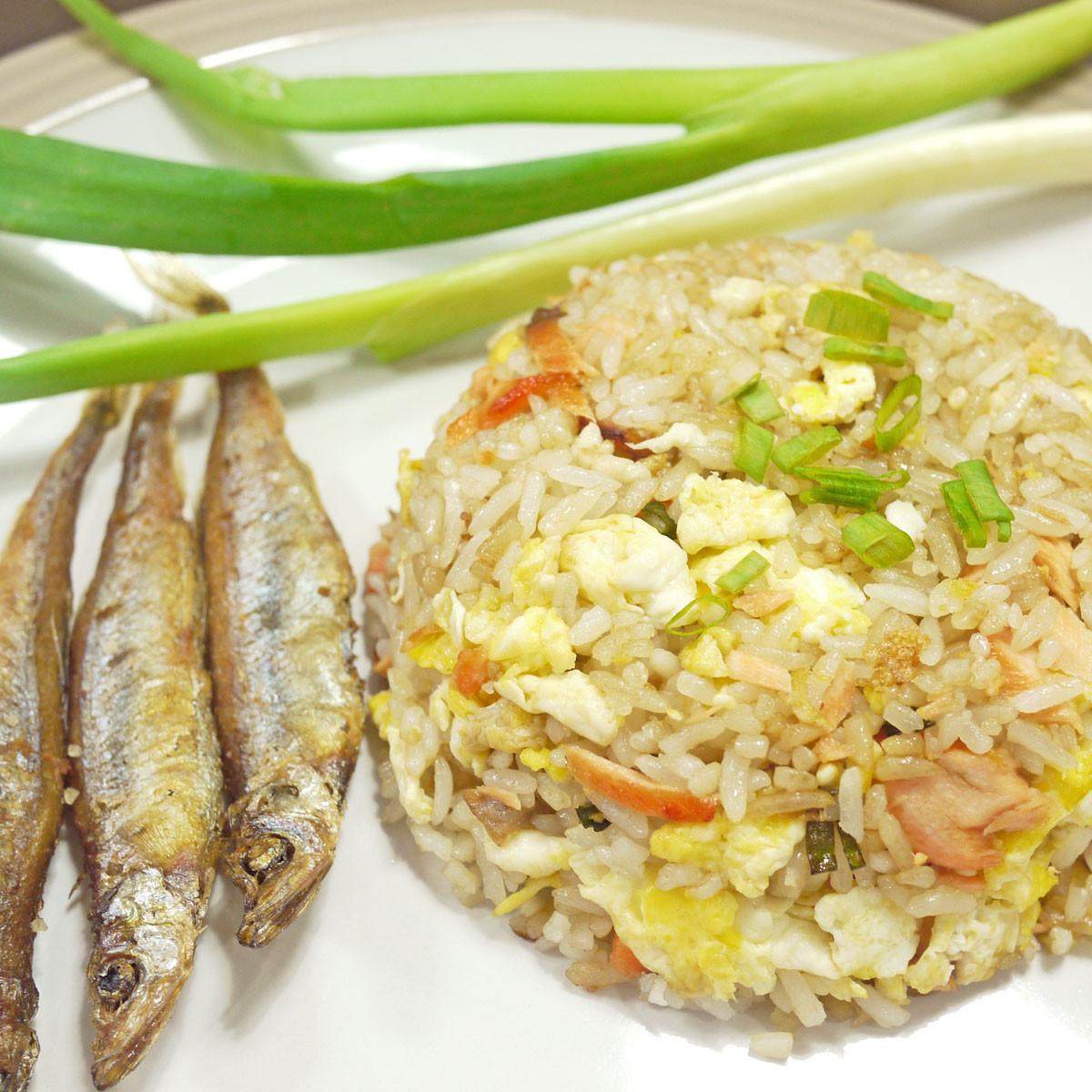 Salmon Fried Rice  Salmon Fried Rice with Shisamo