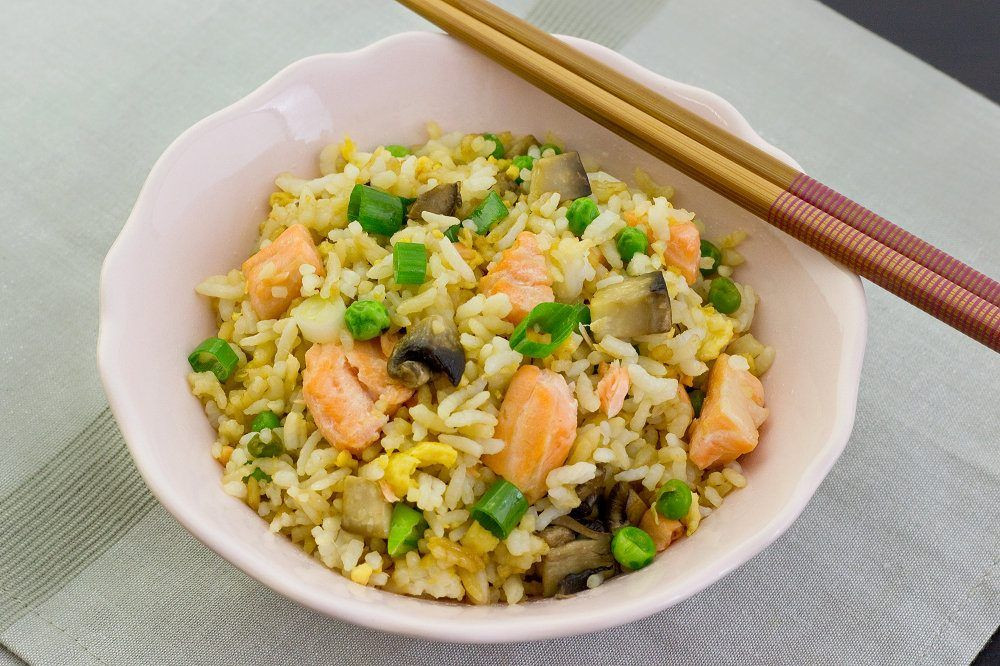 Salmon Fried Rice  20 minute Meal Salmon Fried Rice