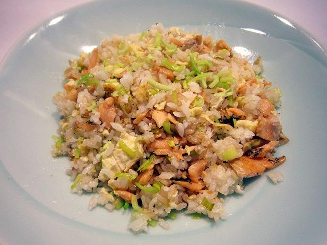 Salmon Fried Rice  Leftover salmon fried rice – Sarin Japanilainen keittiö