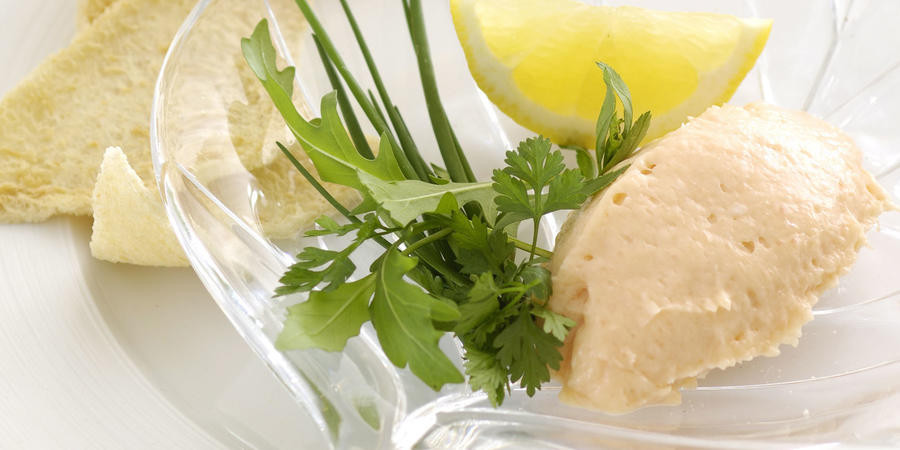 Salmon Mousse Recipe  Smoked salmon mousse with melba toast