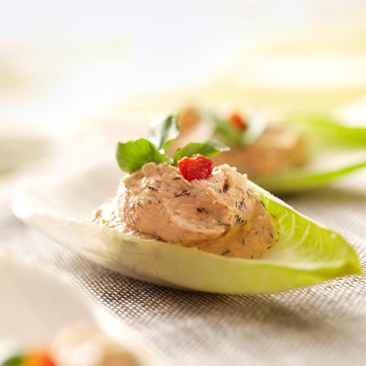 Salmon Mousse Recipe  Salmon Mousse Endive Leaves Recipe
