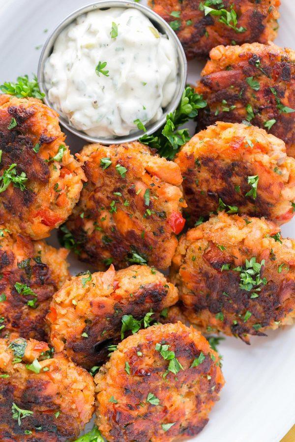 Salmon Patties Baked  Salmon Cakes Recipe Salmon Patties Natasha s Kitchen