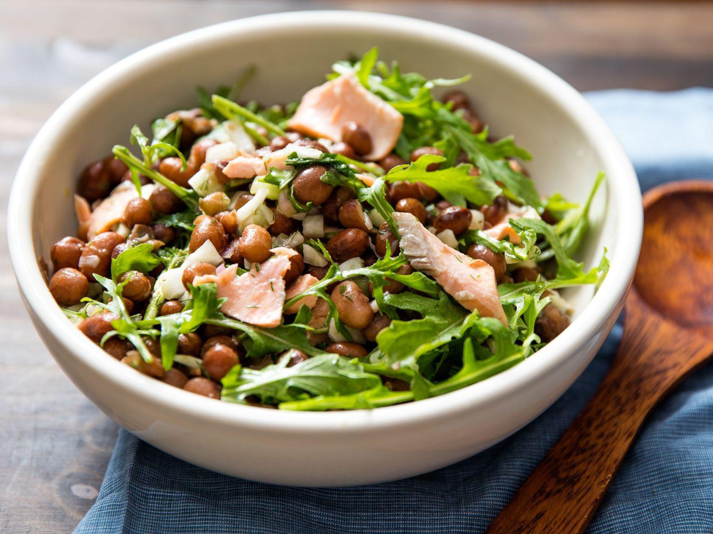 Salmon Salad Recipe  Salmon Bean Salad Recipe