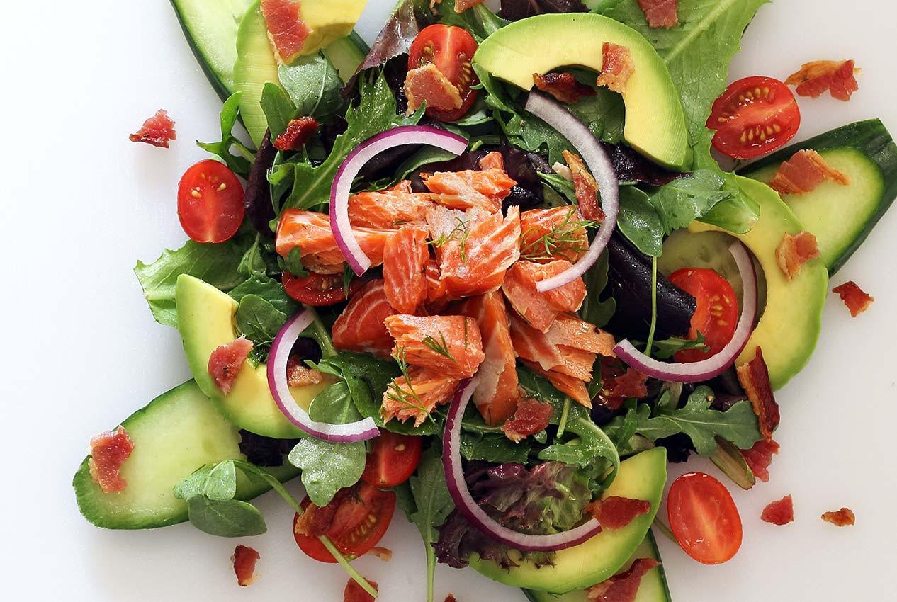 Salmon Salad Recipe  Paleo Smoked Salmon Salad REcipe