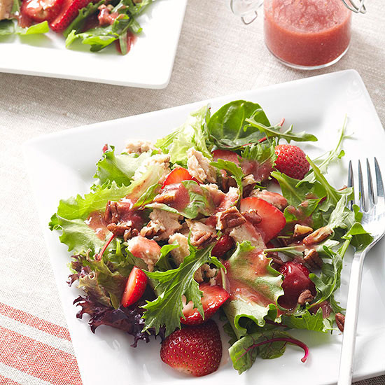 Salmon Salad Recipe  Salmon Salad with Strawberry Vinaigrette