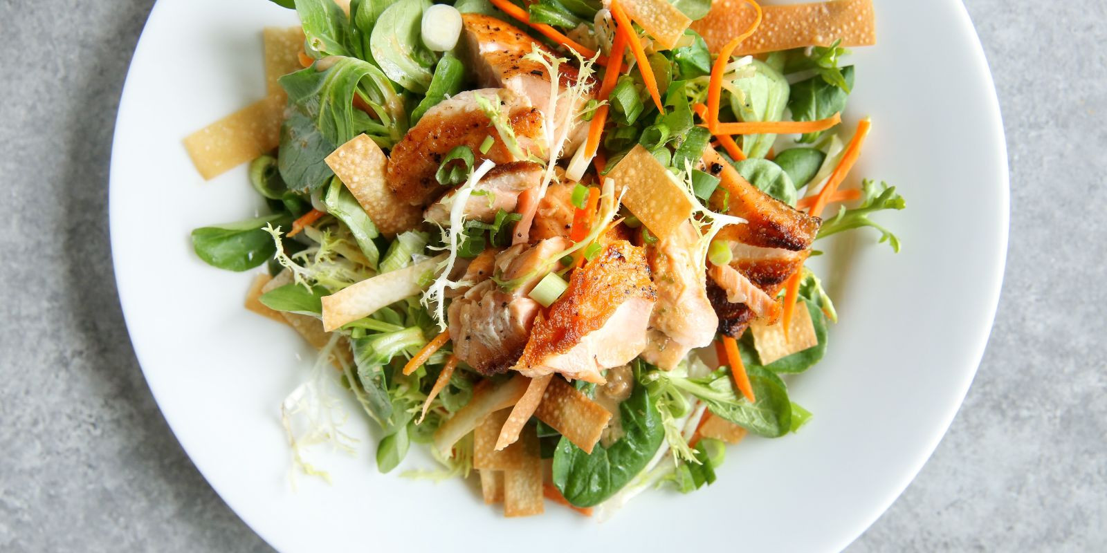 Salmon Salad Recipe  Best Sesame Ginger Salmon Salad Recipe Delish