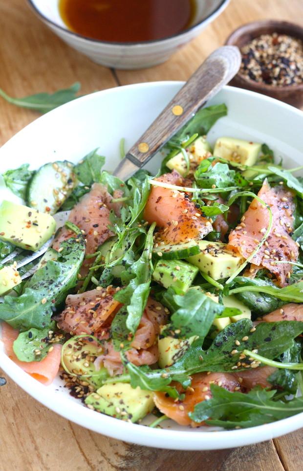 Salmon Salad Recipe  Smoked Salmon Salad