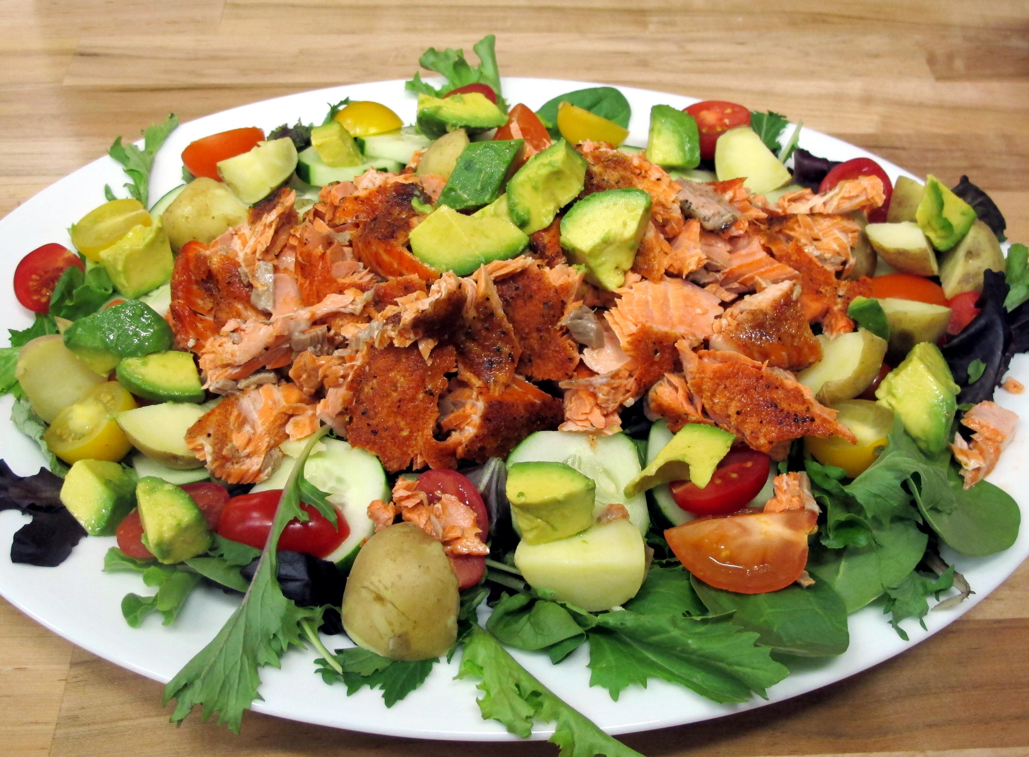 Salmon Salad Recipe  Bone Suckin' Sauce Recipes – Bone Suckin' Salmon Salad Recipe