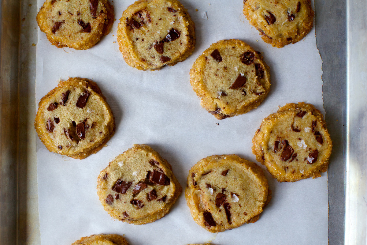 Salted Butter Chocolate Chunk Shortbread Cookies  salted butter chocolate chunk shortbread – smitten kitchen