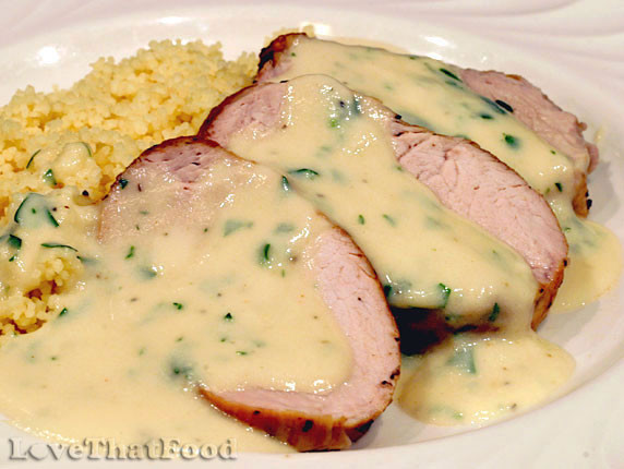 Sauce For Pork Loin  Pork Tenderloin with Creamy Apple Cider Sauce Recipe with