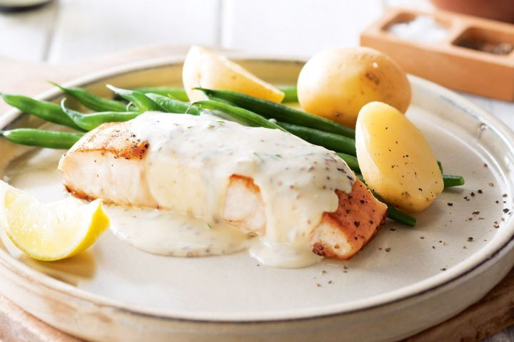 Sauces For Fish  Pan fried fish with creamy mustard sauce