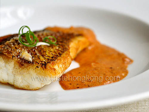 Sauces For Fish  Paprika and White Pepper Cream Sauce with Fish Fillets