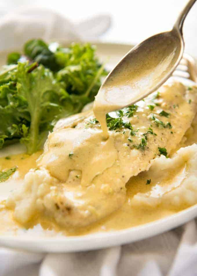 Sauces For Fish  Baked Fish with Lemon Cream Sauce e Baking Dish