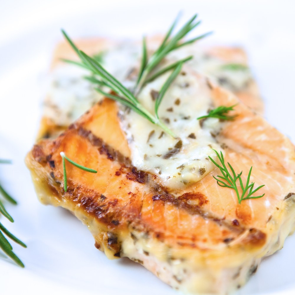 Sauces For Salmon  Baked Salmon with Mustard Dill Sauce recipe