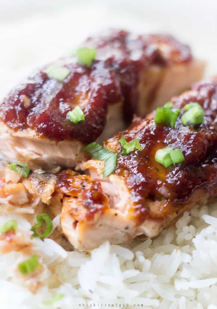 Sauces For Salmon  Salmon With Rhubarb Sweet Chili Sauce