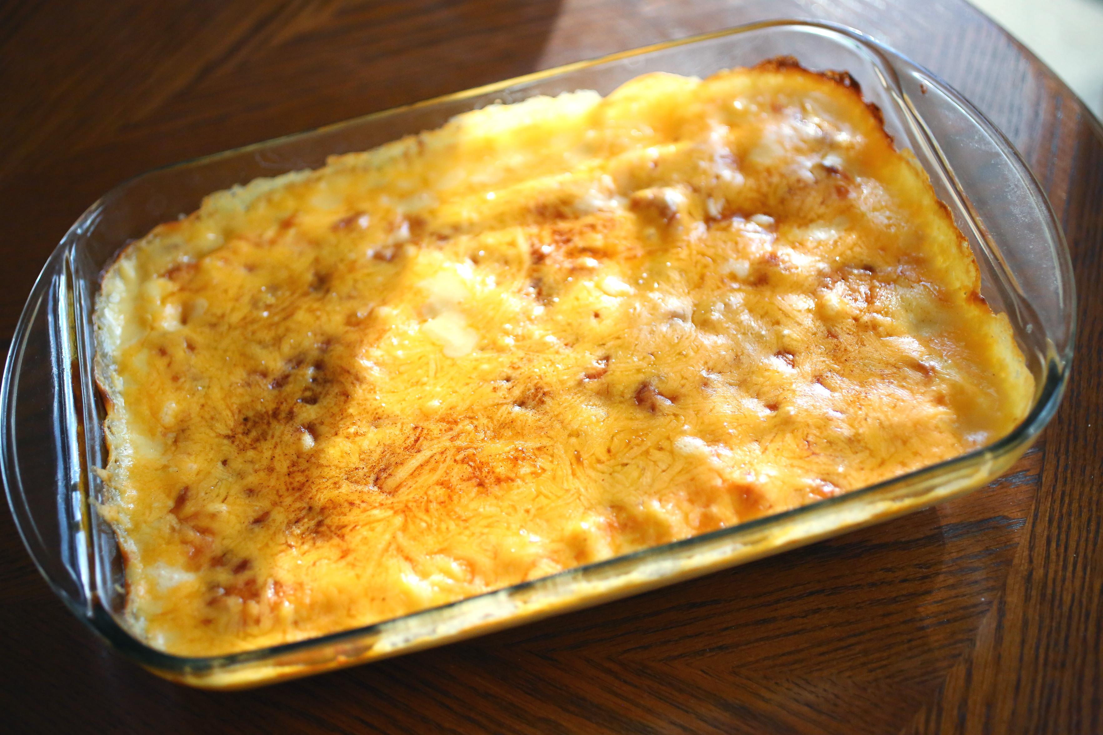 Sausage And Potato Casserole  Cheesy Potato & Smoked Sausage Casserole The Late Stork