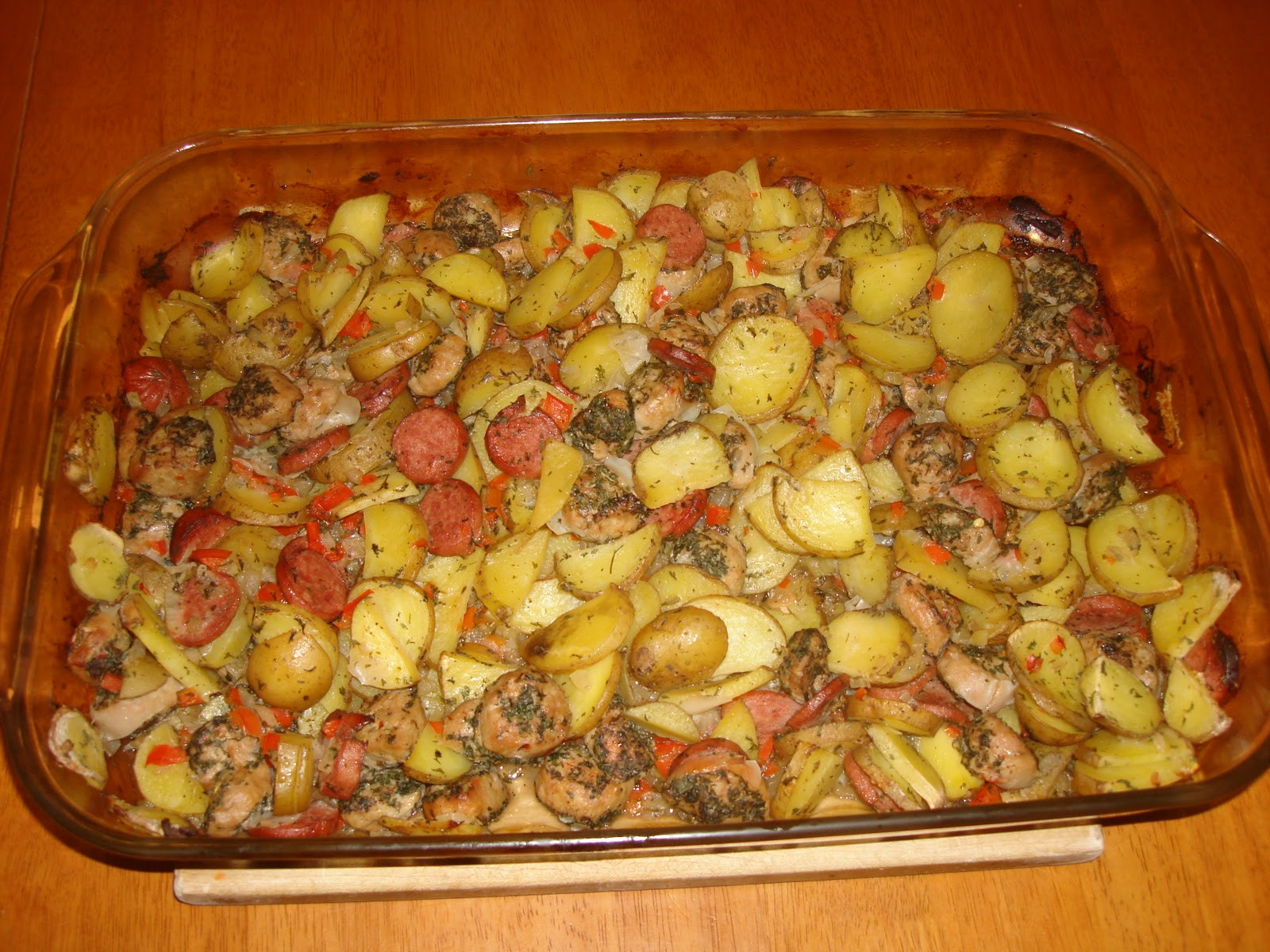 Sausage And Potato Casserole  What s Dad Cooking Sausage & Potato Casserole
