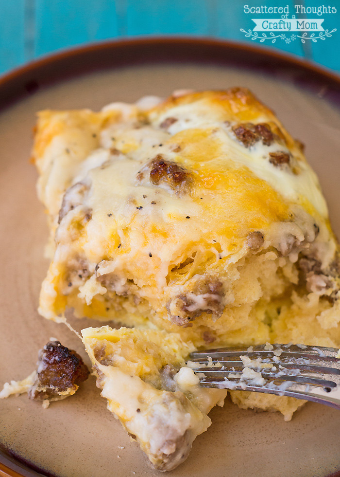 Sausage Biscuit Casserole  Biscuits and Gravy with Sausage and Egg Breakfast