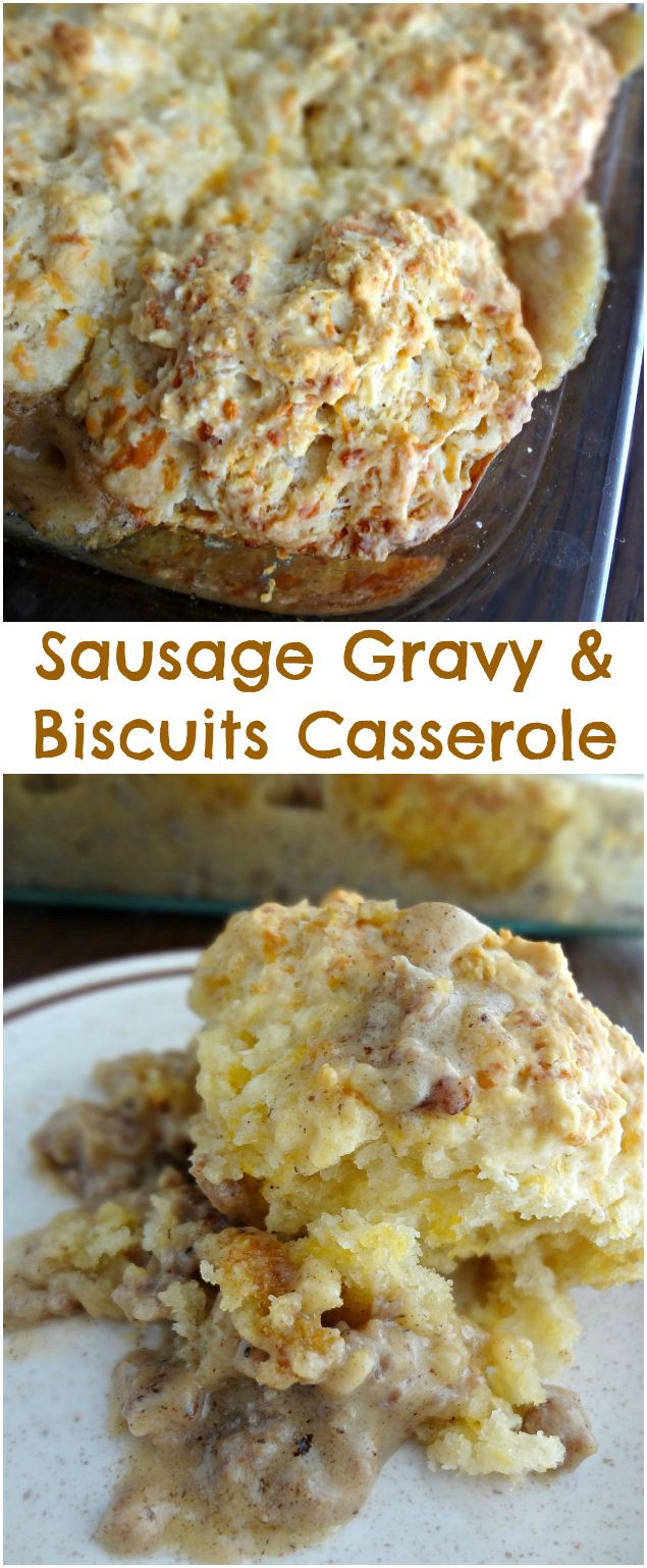 Sausage Biscuit Casserole  The Cooking Actress Sausage Gravy & Biscuits Casserole