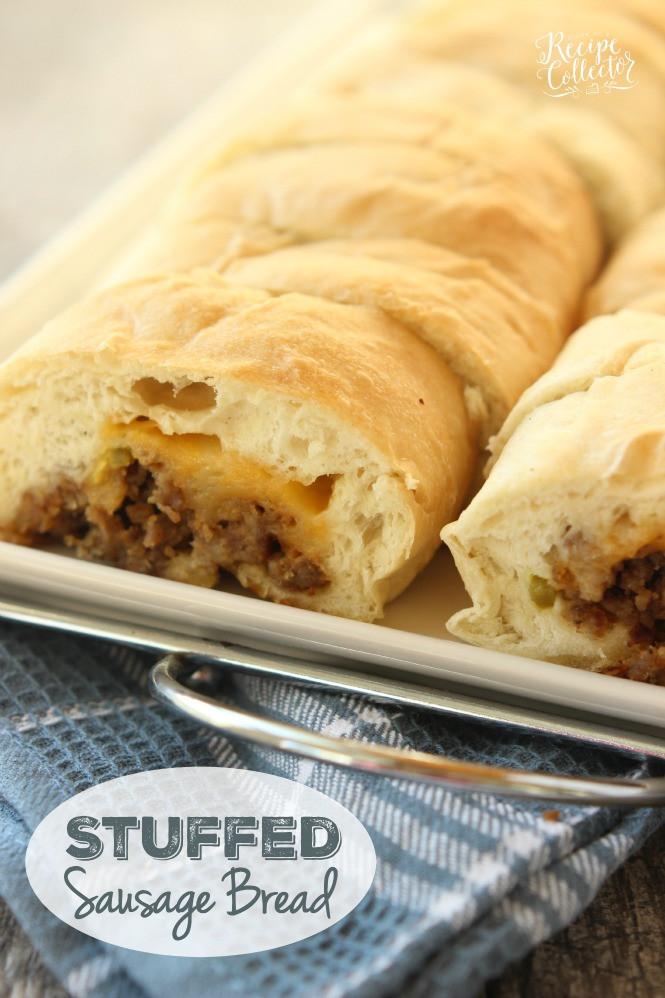 Sausage Bread Recipe  Stuffed Sausage Bread Diary of A Recipe Collector