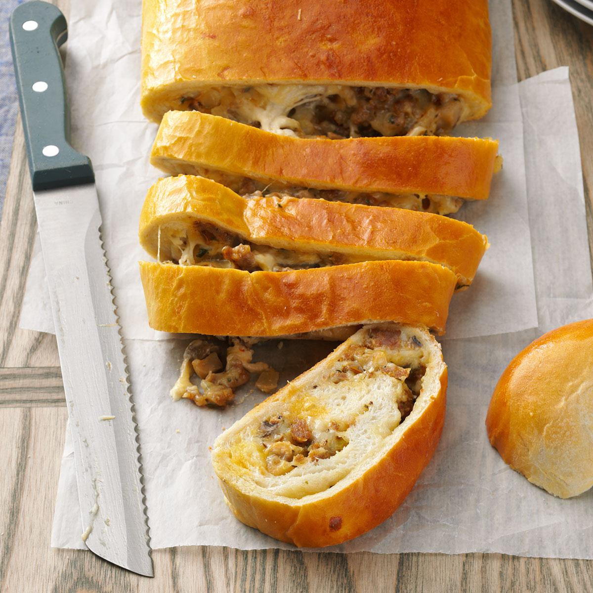 Sausage Bread Recipe  italian sausage bread ring