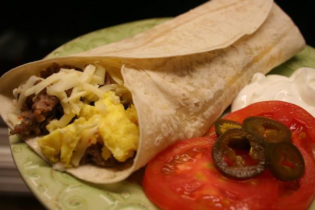 Sausage Breakfast Burrito Recipe  Egg And Sausage Breakfast Burrito Recipe Breakfast Food
