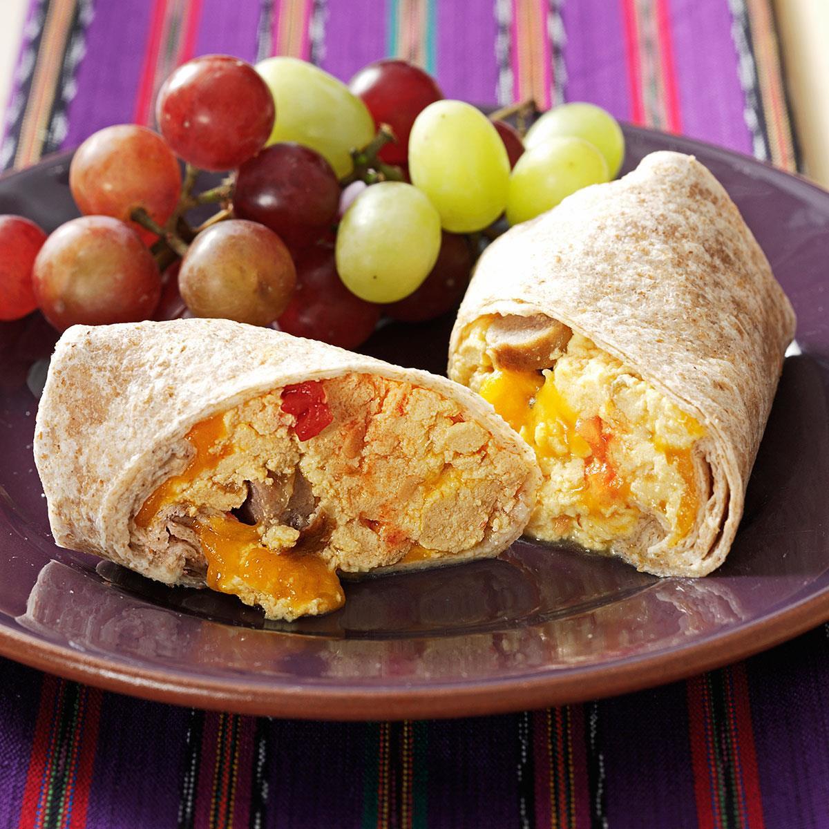Sausage Breakfast Burrito Recipe  Sausage & Salsa Breakfast Burritos Recipe