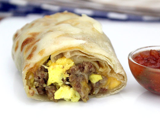Sausage Breakfast Burrito Recipe  Basic Sausage Breakfast Burritos Recipe