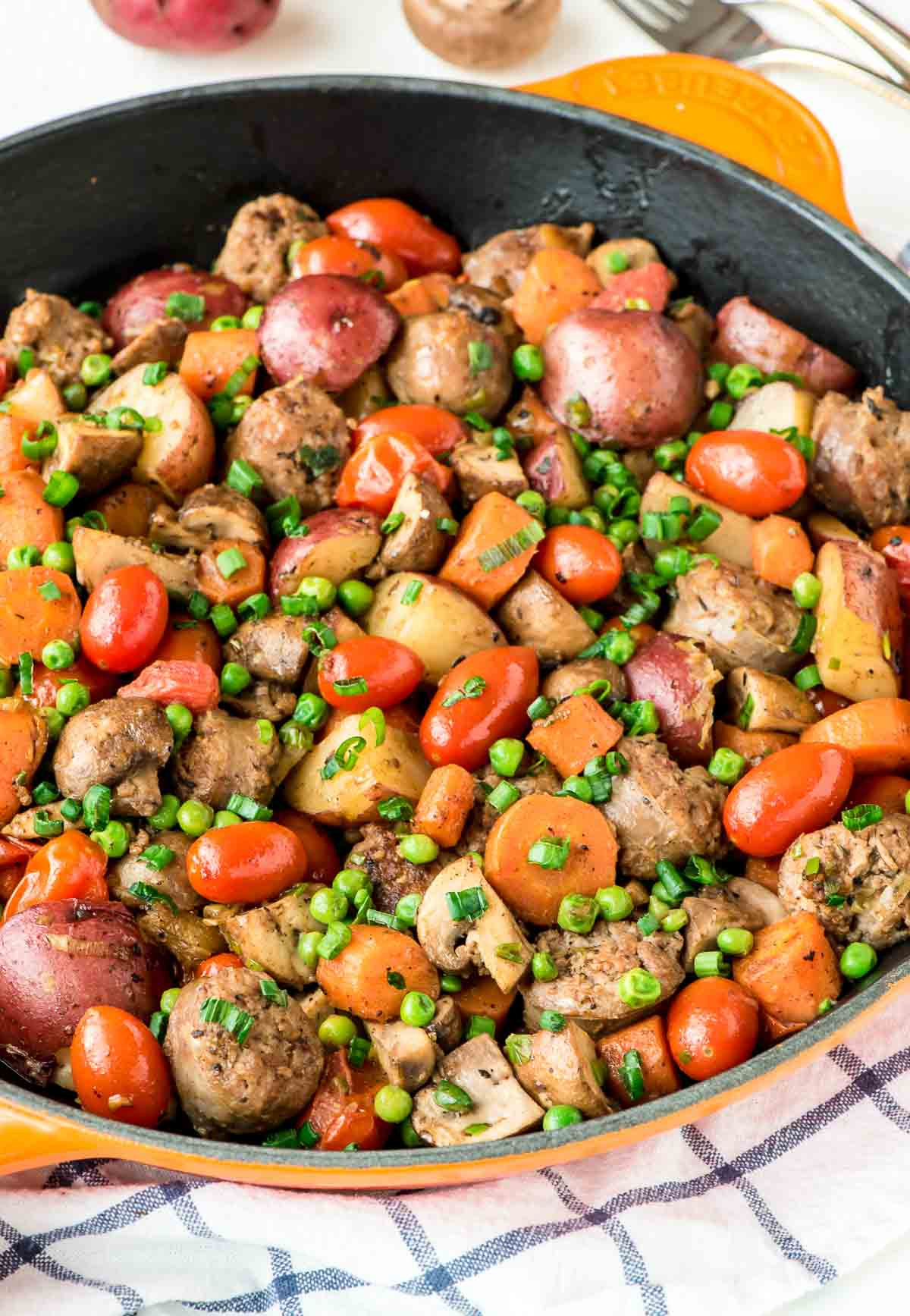 Sausage Dinner Ideas  Italian Sausage Skillet with Ve ables and Potatoes