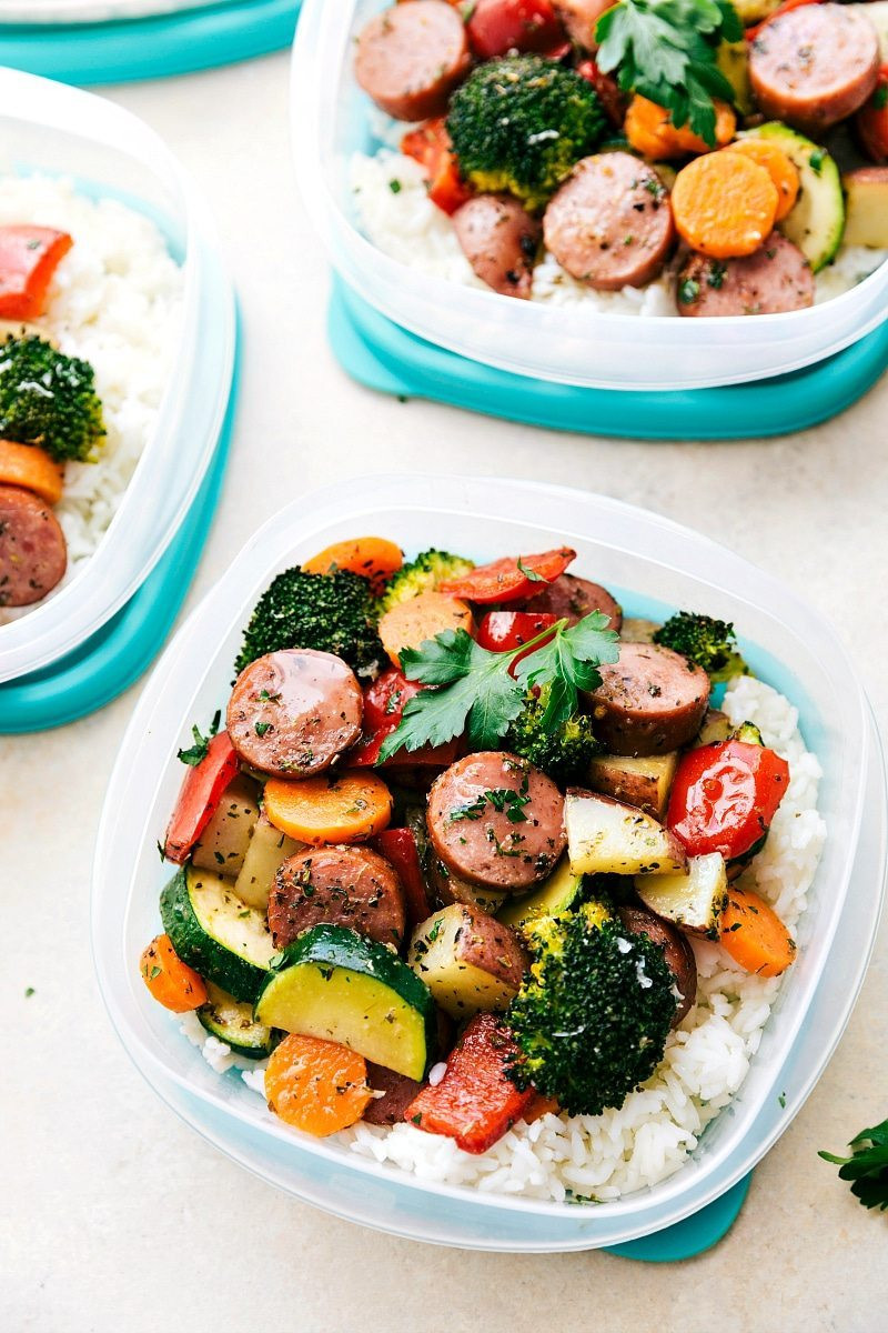 Sausage Dinner Ideas  e Pan Healthy Italian Sausage & Veggies
