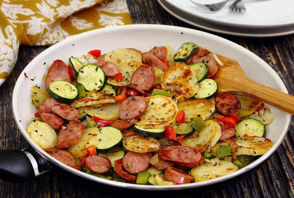 Sausage Dinner Ideas  Italian Sausage & Potato Quick Skillet Recipe