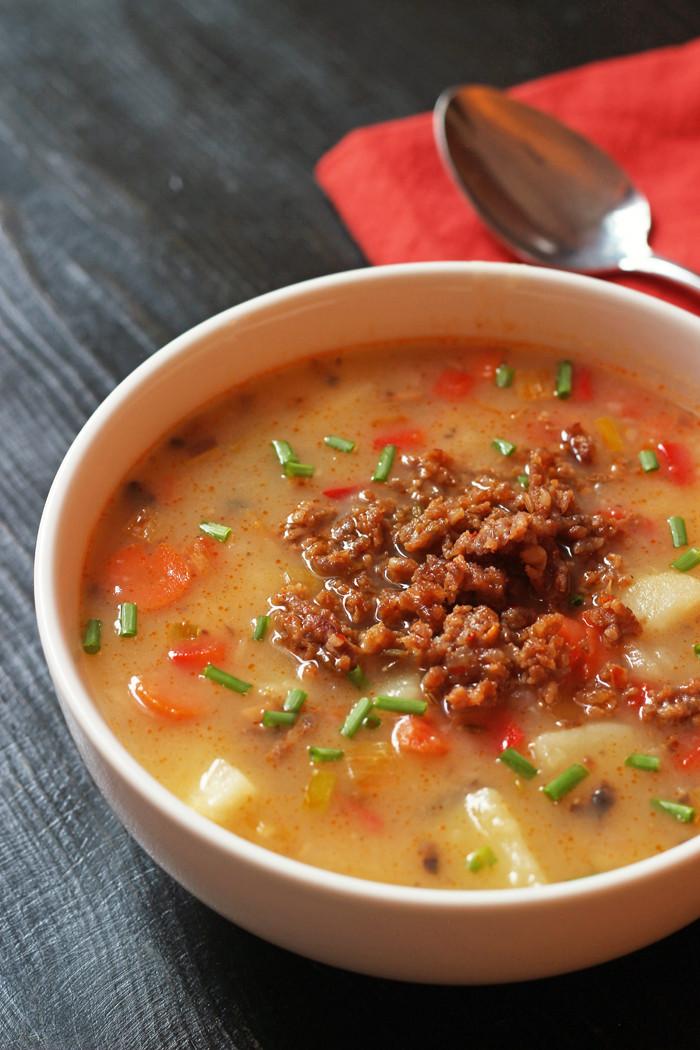 Sausage Potato Soup  Sausage Potato Soup from Good Cheap Eats