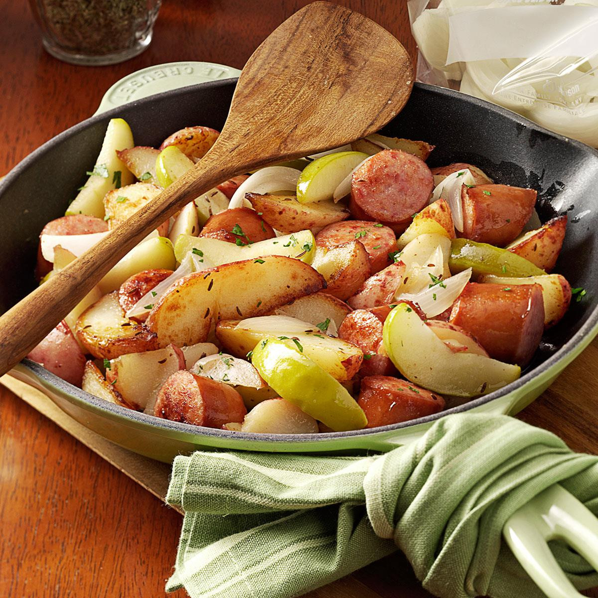 Sausage Recipes Dinner  Sausage Skillet Dinner Recipe