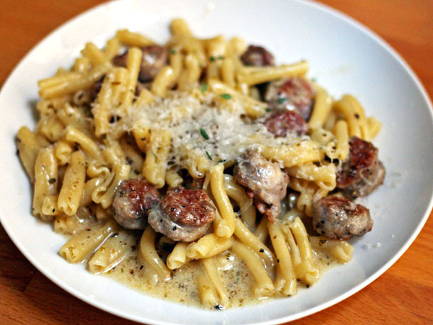 Sausage Recipes Dinner  Dinner Tonight Greek Pasta with Sausage and Cheese Recipe
