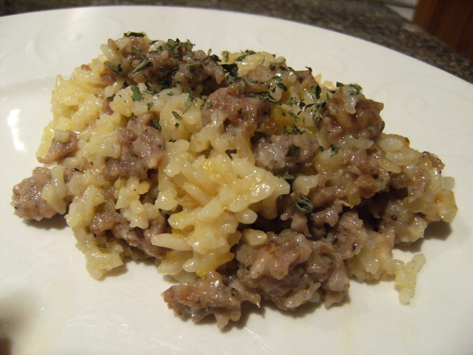 Sausage Rice Casserole  Queen of the Easy Meal Sausage Rice Casserole and Green