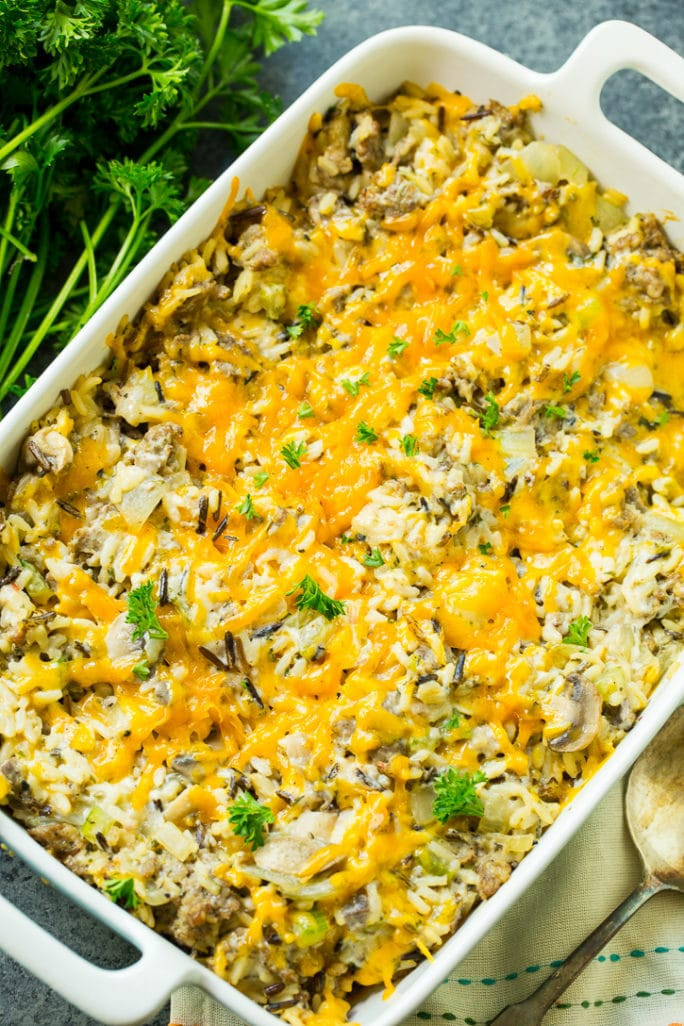 Sausage Rice Casserole  Sausage and Rice Dressing Casserole Spicy Southern Kitchen