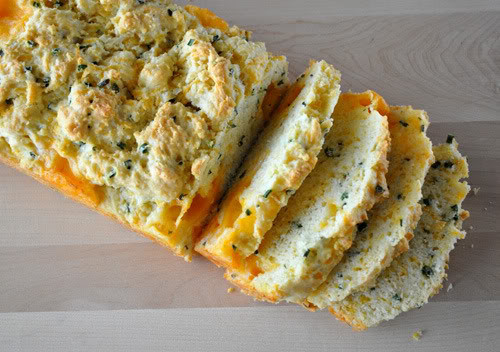 Savory Quick Bread  French Fridays with Dorie – Savory Garlic Cheese & Chive Bread