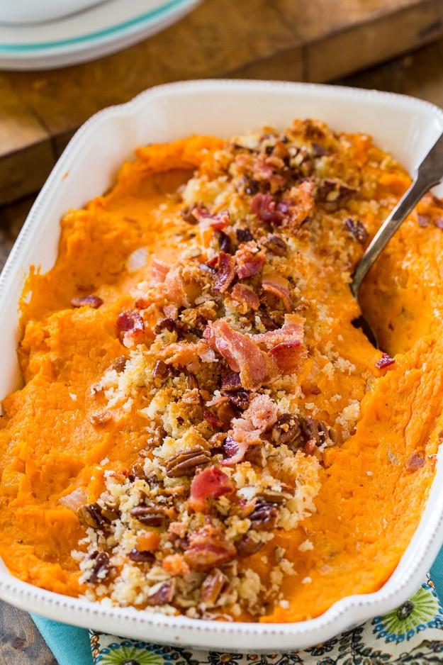 Savory Sweet Potato Recipes  Savory Sweet Potato Casserole Spicy Southern Kitchen