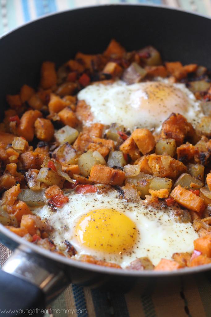 Savory Sweet Potato Recipes  Savory Sweet Potato And Egg Breakfast Hash Young At