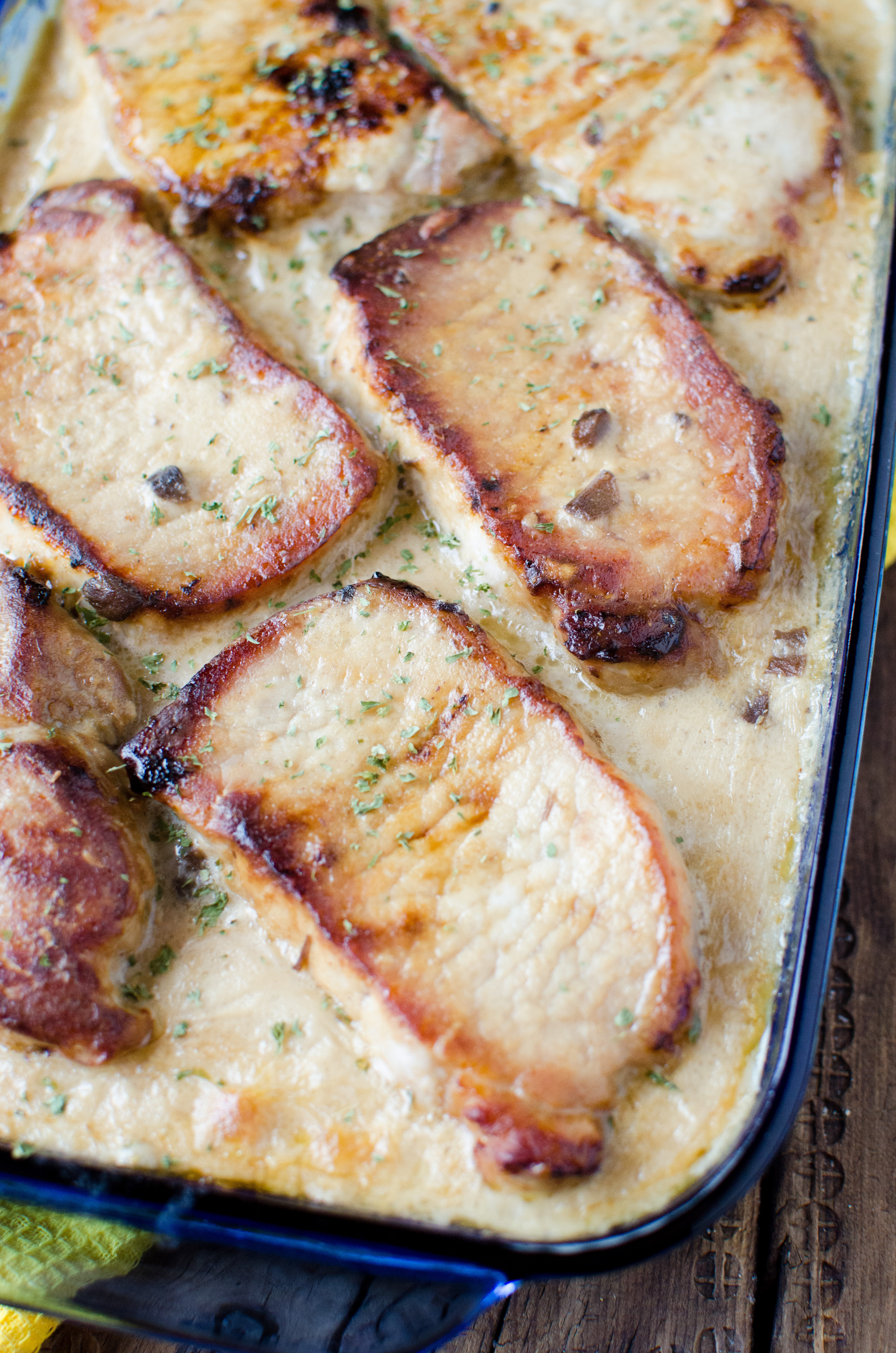 Scalloped Potato Casserole  pork chops and scalloped potatoes with cream of mushroom soup