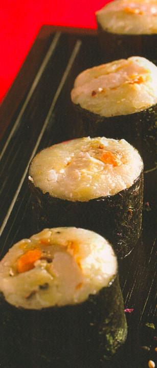 Scalloped Potato Roll  Scallop Potato Rolls SUSHI COOKED Japanese Recipe