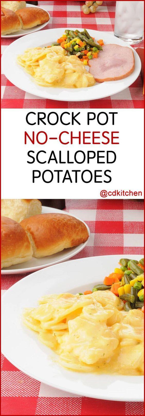 Scalloped Potatoes No Cheese  25 bästa Crockpot scalloped potatoes idéerna på Pinterest