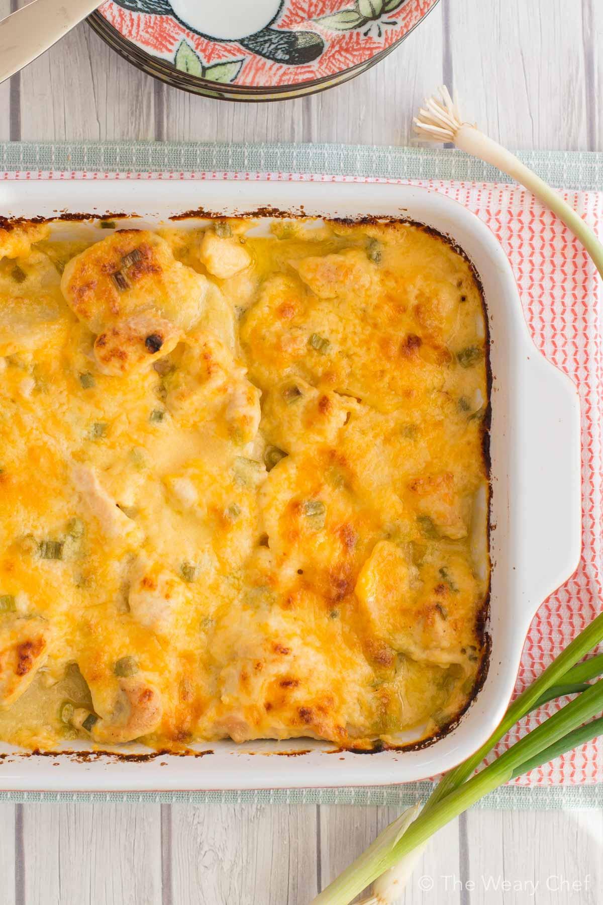 Scalloped Potatoes Recipe  Main Dish Cheesy Scalloped Potatoes Recipe with Chicken