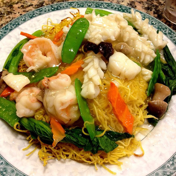 Seafood Pan Fried Noodles  Beautiful Seafood Pan fried Noodles
