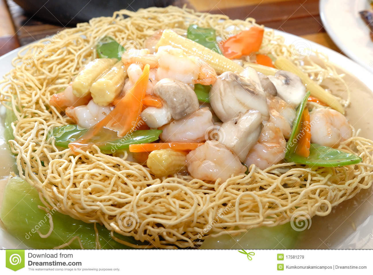 Seafood Pan Fried Noodles  Pan fried noodles stock image Image of fried chinese