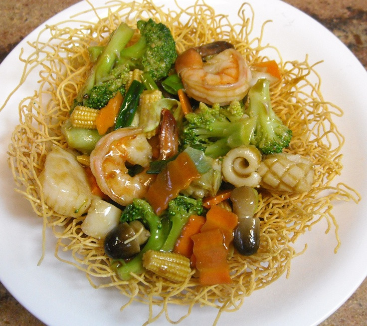 Seafood Pan Fried Noodles  Seafood Pan Fried Noodle FOOD