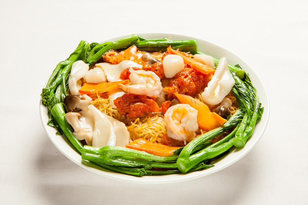 Seafood Pan Fried Noodles  Food