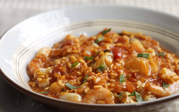 Seafood Risotto Recipe  Tomato seafood risotto recipe goodtoknow